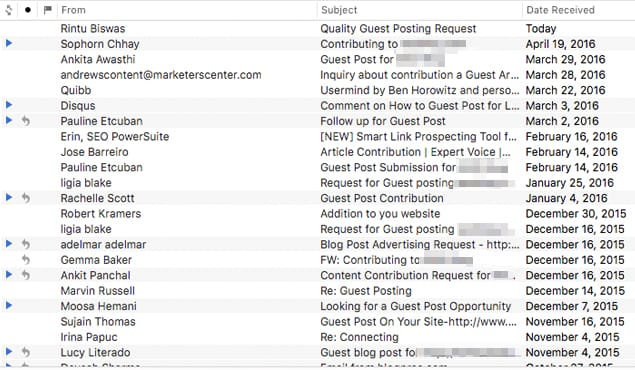 Guest Post Emails