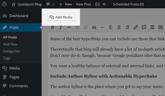 Inserting Images into Article