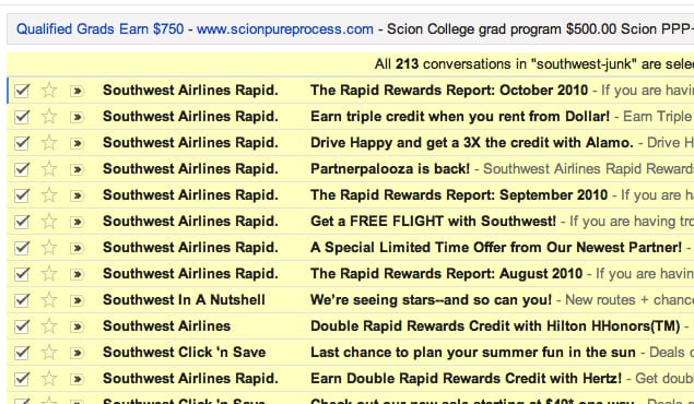 Junk Email Examples