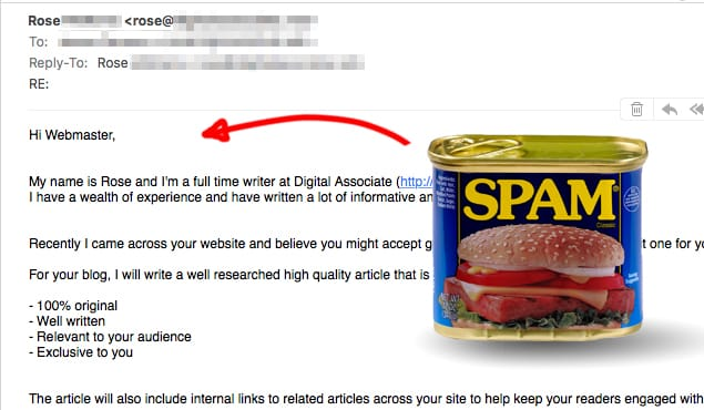 Spam Non Personalized Email