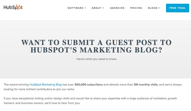 Hubspot Guest Post Guidelines