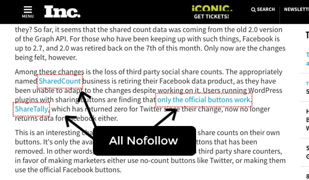 Nofollow Publisher Example