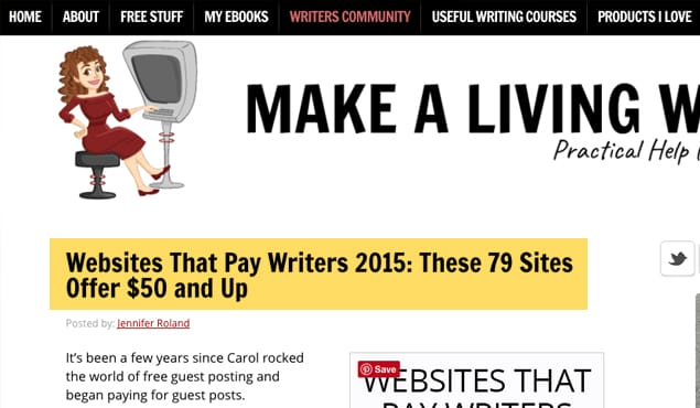 Sites Paying for Guest Posts