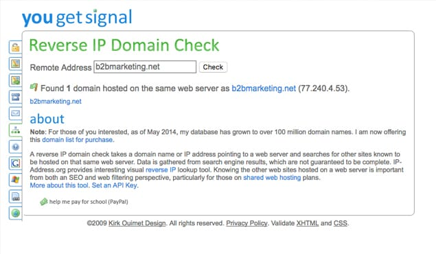 Find Other Sites Hosted on IP