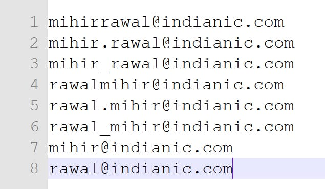 Guessing Email Addresses
