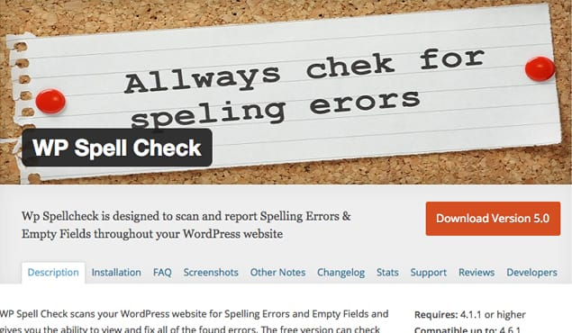 WP Spell Check