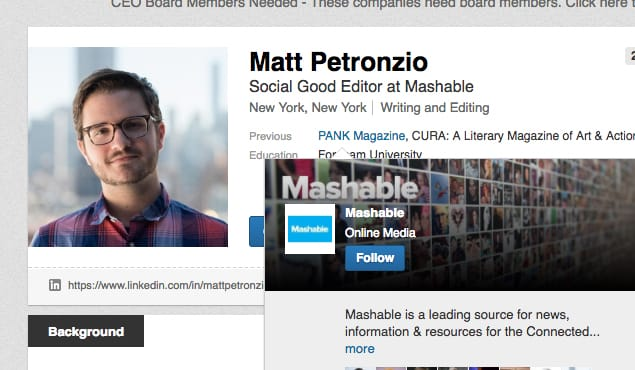 Example Editor Mashable