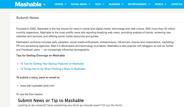 How Can I Submit a Guest Post to Mashable com?