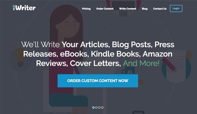 iWriter Homepage