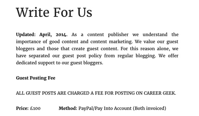 Example 2 Paid Post