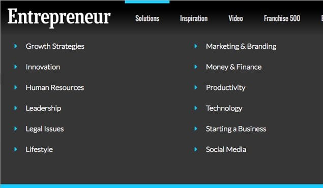 Categories for Entrepreneur