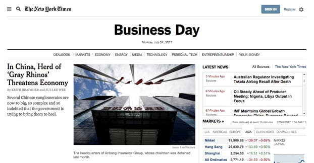 Business Day Category New York Times