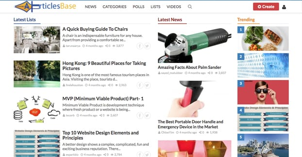 ArticlesBase Homepage