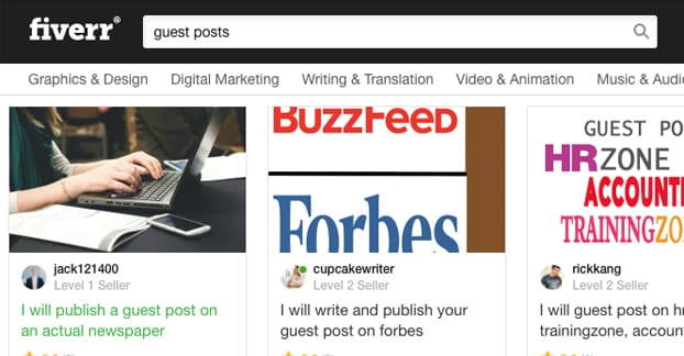 Is Fiverr a Good Place to Get Guest Post Links?