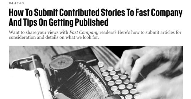 Contributing to Fast Company