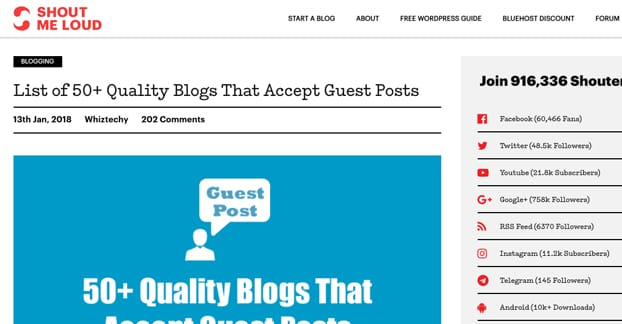 The 50 Best Guest Blogging Services for Marketers