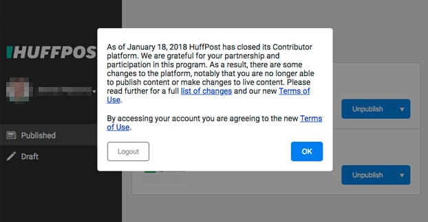 Why Did The Huffington Post Close It's Contributor Program?