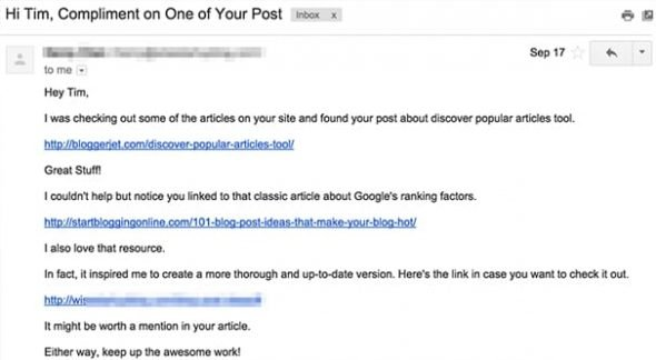 Guest Post Outreach Spam