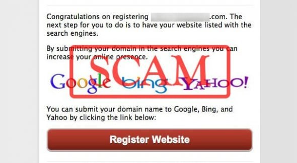 Search Engine Submission Scam