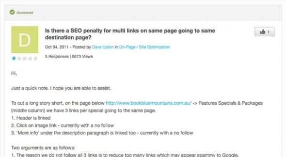SEO Penalty Two Links