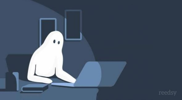Ghost Writing Illustration