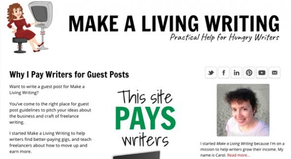 Huge List of Blogs That Will Pay You For a Guest Post