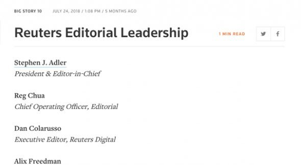 Reuters Leadership Editors