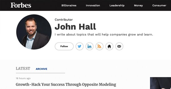 Forbes Contributor Profile