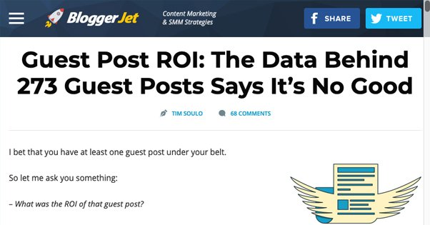 Guest Blogging ROI Study at Blogger Jet