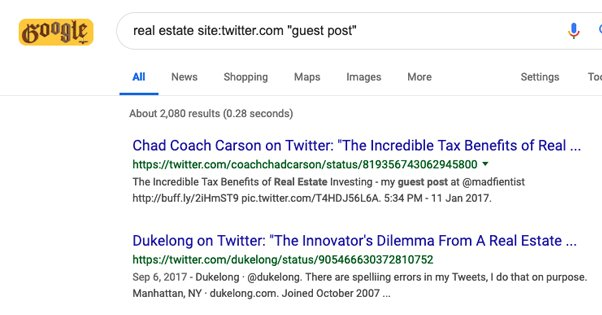 Twitter Guest Post Search
