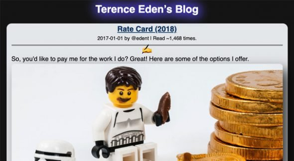 Blogger Rate Card Example 2