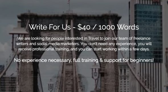 Write for Us Page